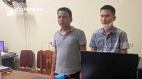 Hai thanh niên Quỳnh Lưu lên mạng lừa bán số lô, đề để chiếm đoạt tài sản