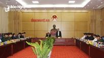 Bộ trưởng Bộ Công an làm việc với Ban Thường vụ Tỉnh ủy Nghệ An