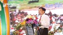Phấn đấu đưa Nam Đàn trở thành huyện kiểu mẫu nhất trong 4 huyện NTM kiểu mẫu cả nước