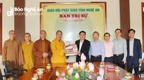 Chủ tịch UBND tỉnh chúc Tết Ban Trị sự Giáo hội Phật giáo tỉnh, văn nghệ sỹ, trí thức