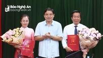 Công bố 2 tân Ủy viên Ban Thường vụ Tỉnh ủy Nghệ An