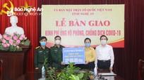 Phương án phân bổ nguồn tiếp nhận ủng hộ phòng, chống Covid-19 ở Nghệ An