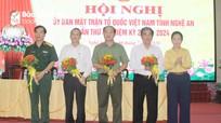 Hiệp thương bổ sung 4 Ủy viên Ủy ban MTTQ Việt Nam tỉnh Nghệ An nhiệm kỳ 2019 - 2024