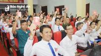 Khai mạc phiên trù bị Đại hội đại biểu Đảng bộ thị xã Thái Hòa lần thứ III, nhiệm kỳ 2020 - 2025