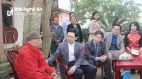 Đồng chí Nguyễn Xuân Sơn chúc Tết các cơ quan, đơn vị và cá nhân tại huyện Nam Đàn