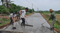 Không công nhận đạt chuẩn nông thôn mới đối với xã nợ đọng xây dựng cơ bản