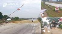 Xe chở lợn dễ dàng 'lọt' chốt kiểm dịch ở thị xã Hoàng Mai