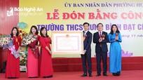 Trường THCS Hưng Bình (TP. Vinh) đón Bằng công nhận trường đạt chuẩn Quốc gia
