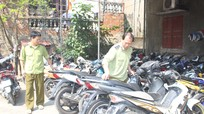 Bắt giữ hơn 40 xe máy đã qua sử dụng không có giấy tờ hợp lệ