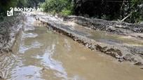 Nguy cơ mất an toàn tuyến đường Huồi Tụ - Keng Đu trước mùa mưa lũ