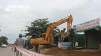 Nghi Lộc bàn giao mặt bằng thi công nâng cấp đường nối Quốc lộ 1A đi thị xã Cửa Lò