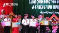 Xã Quỳnh Mỹ (Quỳnh Lưu) đón Bằng công nhận đạt chuẩn nông thôn mới