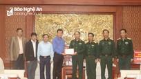 Ban Dân vận Trung ương hỗ trợ Quân khu 4 kinh phí khắc phục hậu quả mưa lũ, tìm kiếm cứu nạn