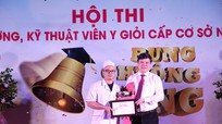 Hào hứng Hội thi 'Rung chuông vàng' điều dưỡng, kỹ thuật viên y giỏi ở Bệnh viện Y học cổ truyền Nghệ An