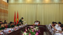 Phó trưởng Ban Dân vận Trung ương làm việc với Bộ CHQS tỉnh