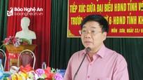 Phó Bí thư Tỉnh ủy Nguyễn Văn Thông tiếp xúc cử tri tại xã biên giới Môn Sơn (Con Cuông)
