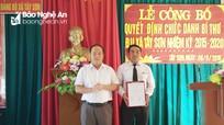 Ban Thường vụ Huyện ủy Kỳ Sơn công bố quyết định chuẩn y kết quả bầu Bí thư Đảng ủy xã