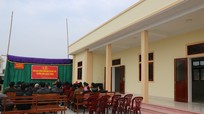 Tân Kỳ bàn giao công trình bếp ăn bán trú cho trường Mầm non