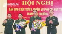 Bộ đội Biên phòng Nghệ An bàn giao chức trách Phó Chỉ huy trưởng - Tham mưu trưởng