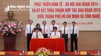 Nghệ An - TP. Hồ Chí Minh ký kết hợp tác phát triển kinh tế - xã hội giai đoạn 2019 -2025