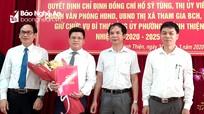 Chánh Văn phòng UBND thị xã Hoàng Mai được điều động làm Bí thư phường Quỳnh Thiện