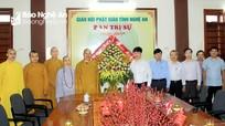 Chủ tịch UBND tỉnh chúc mừng Giáo hội Phật giáo Việt Nam tỉnh Nghệ An nhân Đại lễ Phật đản 2020