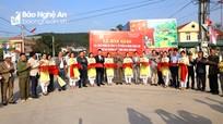 Công ty CP Xi măng Sông Lam bàn giao các công trình hỗ trợ xây dựng nông thôn mới ở xã Nghi Thiết