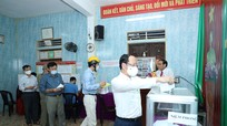 Chủ nhiệm Ủy ban Kiểm tra Tỉnh ủy thực hiện nghĩa vụ bầu cử tại phường Lê Mao