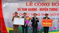 Xã biên giới đầu tiên của Nghệ An đạt chuẩn Nông thôn mới
