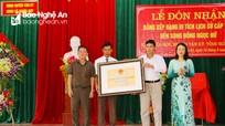 Đền Song Đồng Ngọc Nữ (Tân Kỳ) được xếp hạng di tích lịch sử cấp tỉnh