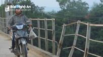 Xuống cấp nặng, cầu treo An Ngãi (Tân Kỳ) sẽ được tu sửa trong dịp hè