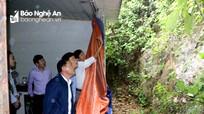 Thành phố Vinh kiểm tra các điểm sạt lở và nguy cơ ngập úng cao do hoàn lưu bão số 9