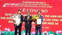 Công bố quyết định bổ nhiệm lãnh đạo Ban Quản lý dự án ĐTXD dân dụng và công nghiệp Nghệ An