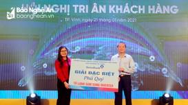 Vietinbank chi nhánh thành phố Vinh gặp mặt tri ân khách hàng
