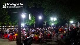 TP. Vinh: Bất chấp dịch bệnh, nhiều quán bia vẫn đông nghẹt người dịp cuối tuần
