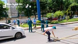 Lập hàng chục chốt chặn, cách ly toàn bộ 2 phường Hồng Sơn và Vinh Tân (TP Vinh)