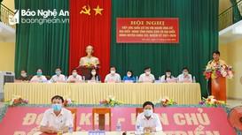Ứng cử viên đại biểu HĐND tỉnh, HĐND huyện Nam Đàn tiếp xúc cử tri xã Kim Liên
