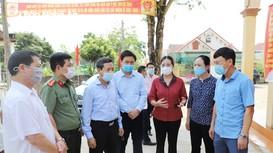 Đoàn công tác của tỉnh kiểm tra việc chuẩn bị cho bầu cử tại TX Thái Hòa