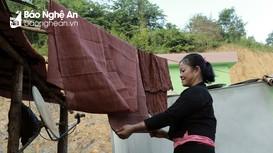 Dùng vôi bột và vỏ cây nhuộm vải, người Ơ đu ở Nghệ An giữ truyền thống độc đáo