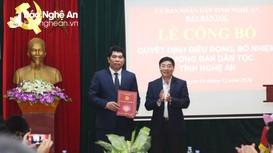 Chủ tịch UBND huyện Con Cuông được bổ nhiệm giữ chức Trưởng ban Dân tộc tỉnh