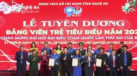 Nghệ An tuyên dương 13 đảng viên trẻ tiêu biểu