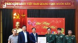 Lữ đoàn xe tăng 215, Binh chủng Tăng - Thiết giáp chúc Tết Báo Nghệ An