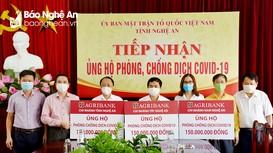 Ủy ban MTTQ tỉnh Nghệ An tiếp nhận trên 16 tỷ đồng ủng hộ Quỹ phòng, chống Covid-19