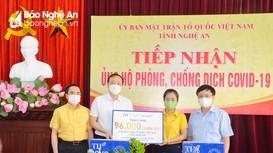 Tập đoàn TH trao 96 nghìn ly sữa cho Nghệ An phục vụ phòng chống dịch Covid-19
