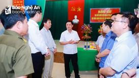 Bí thư Tỉnh ủy Thái Thanh Quý kiểm tra công tác chuẩn bị bầu cử tại huyện Tân Kỳ