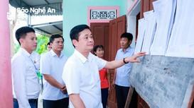 Bí thư Tỉnh ủy Thái Thanh Quý kiểm tra công tác chuẩn bị bầu cử tại huyện Diễn Châu