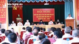 5 ứng cử viên đại biểu Quốc hội vận động bầu cử cử tri 6 phường, xã của thành phố Vinh