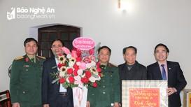 Bộ CHQS tỉnh và MTTQVN tỉnh Nghệ An chúc mừng Lễ Giáng sinh tại huyện Yên Thành