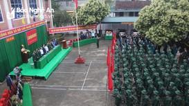 Buổi giao nhận quân ngắn gọn của các địa phương ở Nghệ An