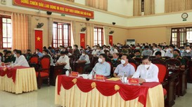 Khai mạc tập huấn về diễn tập khu vực phòng thủ ở Nghệ An